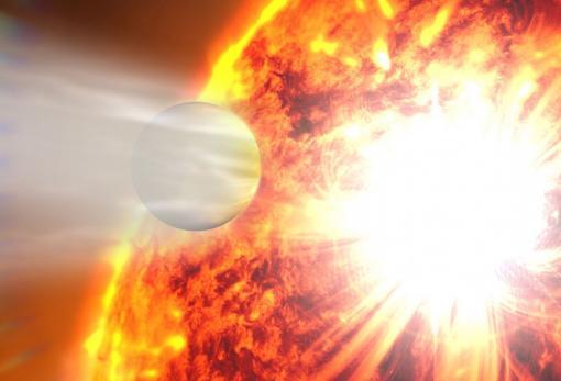 ветер на экзопланете
