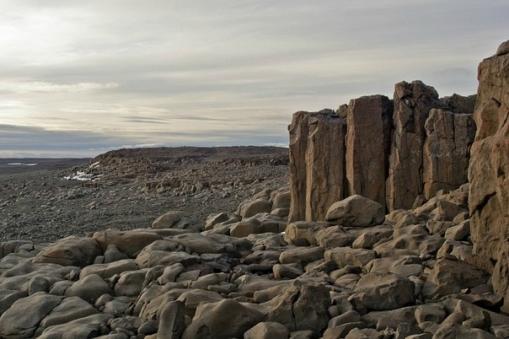 Земля Франца-Иосифа - базальтовые столбы